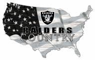 "Las Vegas Raiders 15"" USA Flag Cutout Sign"