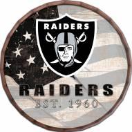 "Las Vegas Raiders 16"" Flag Barrel Top"