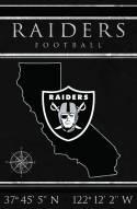 """Las Vegas Raiders 17"""" x 26"""" Coordinates Sign"""