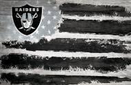 "Las Vegas Raiders 17"" x 26"" Flag Sign"