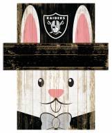 "Las Vegas Raiders 19"" x 16"" Easter Bunny Head"