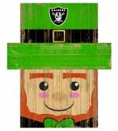 """Las Vegas Raiders 19"""" x 16"""" Leprechaun Head"""
