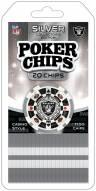Las Vegas Raiders 20 Piece Poker Chips Set