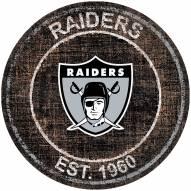 """Las Vegas Raiders 24"""" Heritage Logo Round Sign"""