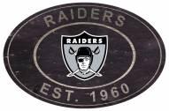 """Las Vegas Raiders 46"""" Heritage Logo Oval Sign"""