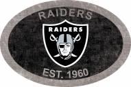"""Las Vegas Raiders 46"""" Team Color Oval Sign"""