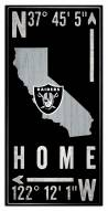 """Las Vegas Raiders 6"""" x 12"""" Coordinates Sign"""