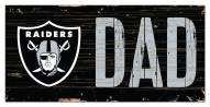 "Las Vegas Raiders 6"" x 12"" Dad Sign"