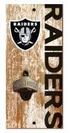 """Las Vegas Raiders 6"""" x 12"""" Distressed Bottle Opener"""
