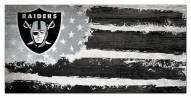 "Las Vegas Raiders 6"" x 12"" Flag Sign"