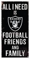 "Las Vegas Raiders 6"" x 12"" Friends & Family Sign"