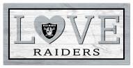 "Las Vegas Raiders 6"" x 12"" Love Sign"