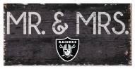 """Las Vegas Raiders 6"""" x 12"""" Mr. & Mrs. Sign"""