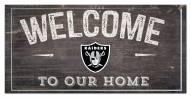 "Las Vegas Raiders 6"" x 12"" Welcome Sign"