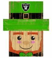 """Las Vegas Raiders 6"""" x 5"""" Leprechaun Head"""