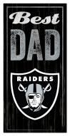 Las Vegas Raiders Best Dad Sign