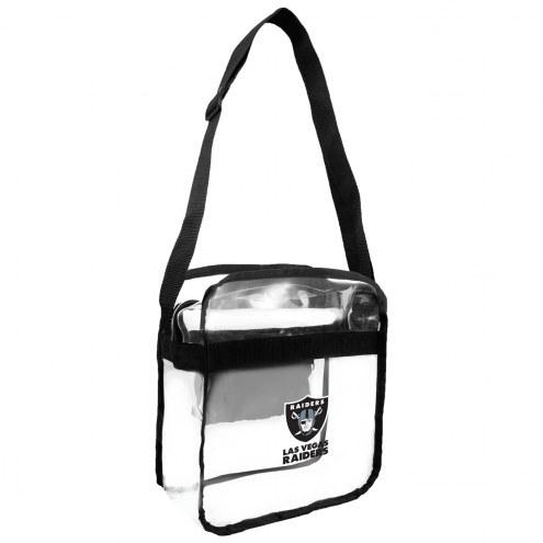 Las Vegas Raiders Clear Crossbody Carry-All Bag