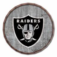 """Las Vegas Raiders Cracked Color 24"""" Barrel Top"""