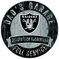 Las Vegas Raiders Dad's Garage Sign