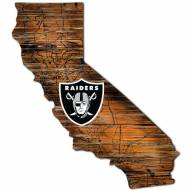 Las Vegas Raiders Distressed State with Logo Sign
