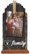 Las Vegas Raiders Family Tabletop Clothespin Picture Holder