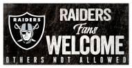 Las Vegas Raiders Fans Welcome Sign