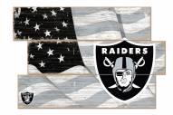 Las Vegas Raiders Flag 3 Plank Sign