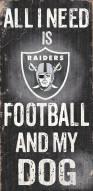 Las Vegas Raiders Football & My Dog Sign
