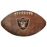 Las Vegas Raiders Football Shaped Sign