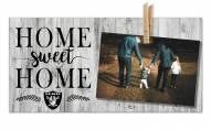 Las Vegas Raiders Home Sweet Home Clothespin Frame