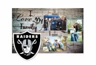Las Vegas Raiders I Love My Family Clip Frame