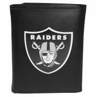 Las Vegas Raiders Large Logo Leather Tri-fold Wallet