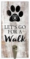 Las Vegas Raiders Leash Holder Sign