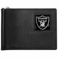 Las Vegas Raiders Leather Bill Clip Wallet