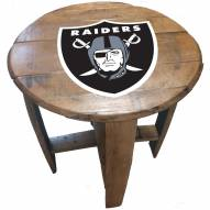 Las Vegas Raiders Oak Barrel Table