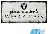 Las Vegas Raiders Please Wear Your Mask Sign