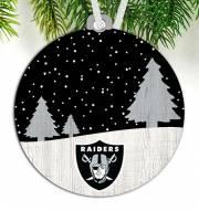 Las Vegas Raiders Snow Scene Ornament