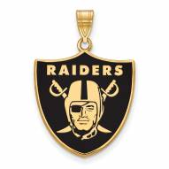 Las Vegas Raiders Sterling Silver Gold Plated Large Pendant