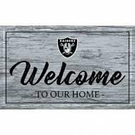 Las Vegas Raiders Team Color Welcome Sign