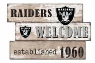 Las Vegas Raiders Welcome 3 Plank Sign