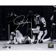Lawrence Taylor Over Cunningham B/W Horizontal 8 x 10 Photo