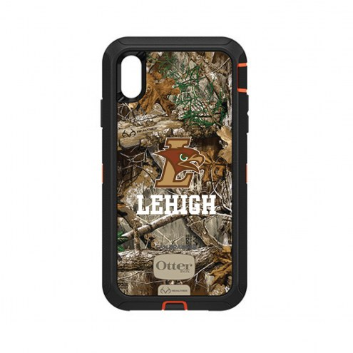 Lehigh Mountain Hawks OtterBox iPhone XS Max Defender Realtree Camo Case