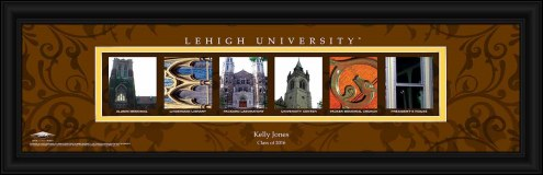 Lehigh Mountain Hawks Personalized Campus Letter Art