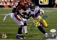 Le'Veon Bell Signed Pittsburgh Steelers Rush vs. Bengals 8 x 10 Photo