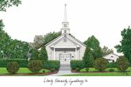 Liberty Flames Campus Images Lithograph