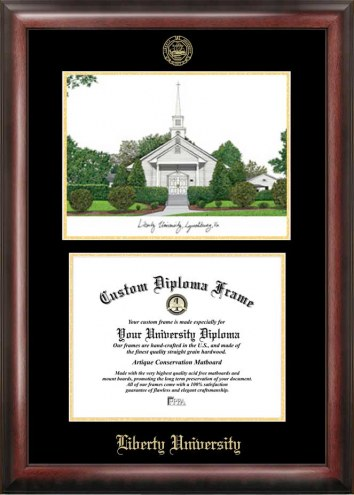 Liberty Flames Gold Embossed Diploma Frame with Lithograph