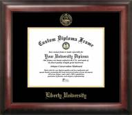 Liberty Flames Gold Embossed Diploma Frame