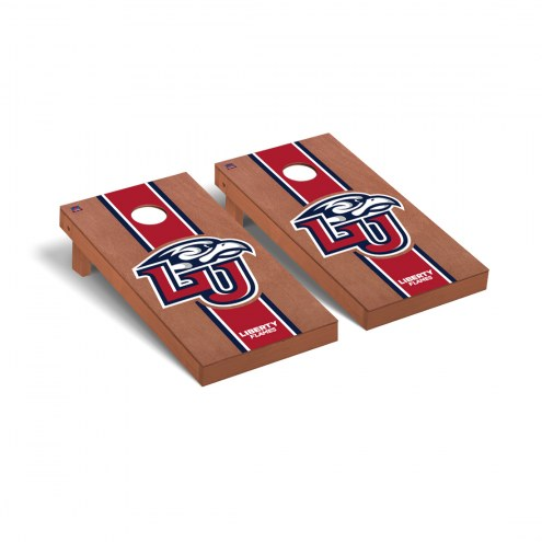 Liberty Flames Rosewood Stained Cornhole Game Set