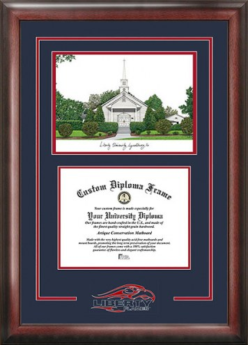 Liberty Flames Spirit Diploma Frame with Campus Image