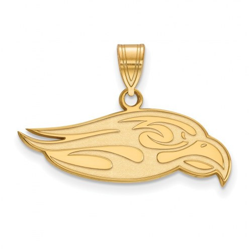 Liberty Flames Sterling Silver Gold Plated Large Pendant